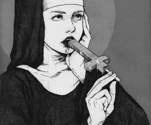 nun and cross image