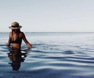 girl, sea, and goos vibes image