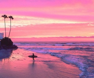 beach, california, and San Diego image
