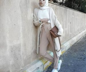 neutral hijab outfit image