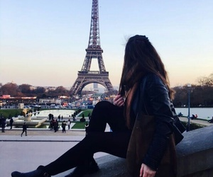amour, girl, and paris image