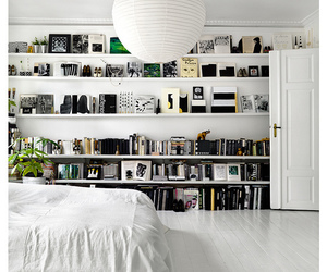 bedroom, book, and white image