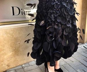 dior, fashion, and black image