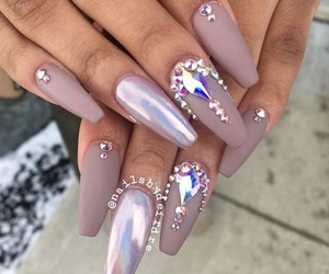 nails, matte, and taupe image