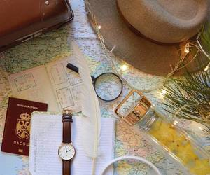 passport, explore, and map image