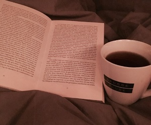 bed, book, and cold image