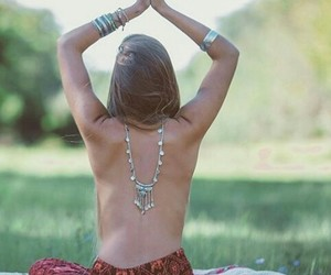 hippie, yoga, and positive vibrations image