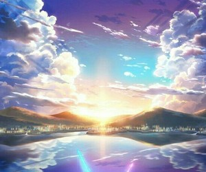 anime, scenery, and your name image