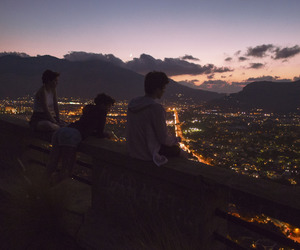 friends, city, and night image