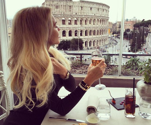 hair, blonde, and rome image