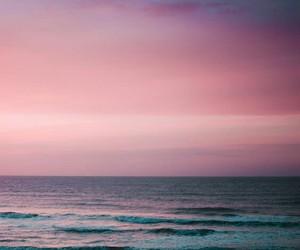 beautiful, pinkish, and sea image