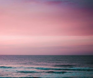 beautiful, pinkish, and sea image