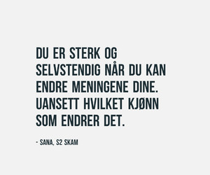 skam, norway, and quote image
