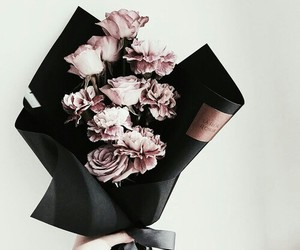flowers, tumblr, and golden rose image