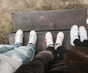 adidas, converse, and black jeans image