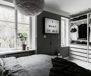 room, black, and black and white image