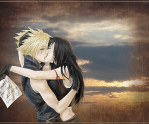 anime, cloud strife, and couples image