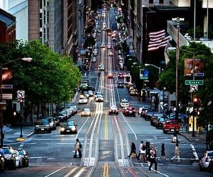 city, car, and light image