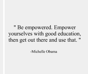 education, inspiration, and michelle obama image