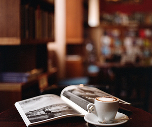 coffee, book, and photography image