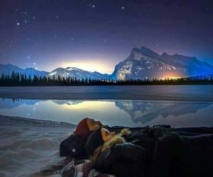 couple, night, and sky image