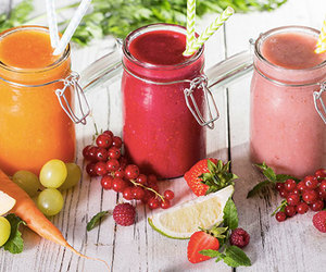 food, smoothies, and strawberry image