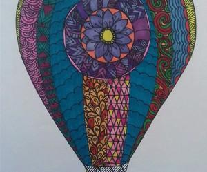 air balloon, colors, and mandalas image