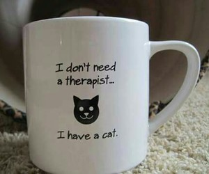 cats, love, and therapist image