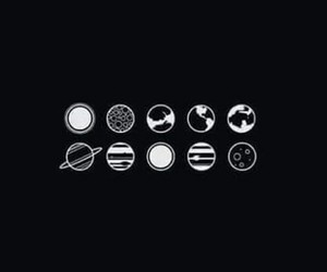 planet and black image