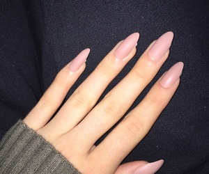 matte, nails, and pink image
