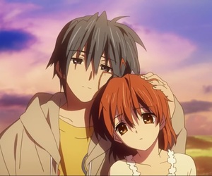 clannad, anime, and couple image