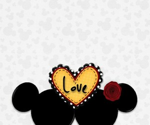 mickey mouse, minnie mouse, and wallpaper image