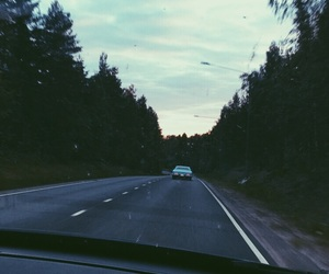 cars, summer, and road image