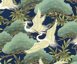 art, asian, and birds image