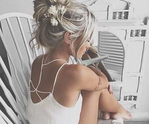 fashion, flowers, and hair style image