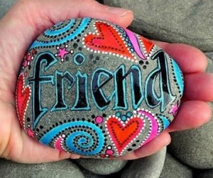 friends, friendship, and stone image