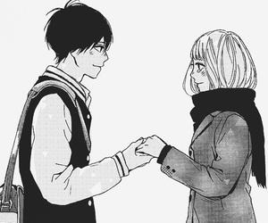 orange, couple, and manga image