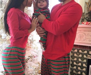 family, baby, and christmas image