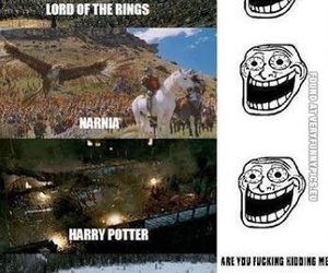 twilight, harry potter, and narnia image