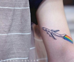 airplane, plane, and tattoo image