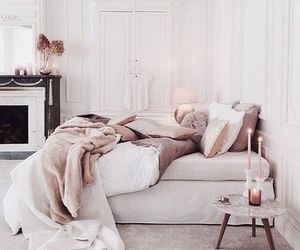 bed, lux, and room image