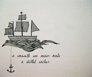 quote, sea, and sailor image