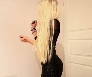 blonde, long hair, and dress image