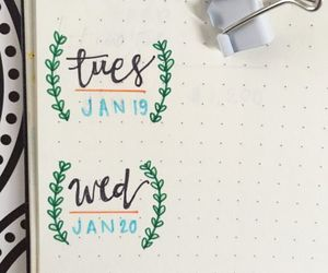 decoration, green, and notebook image
