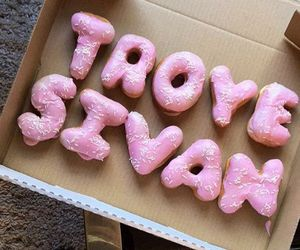 troye sivan, donuts, and pink image