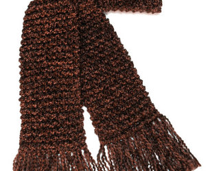 etsy, chocolate brown, and hand knit scarf image