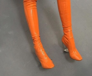 orange, boots, and aesthetic image