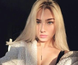 girl, blonde, and icon image