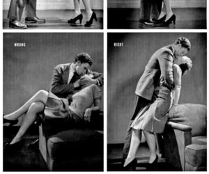 kiss, vintage, and couple image