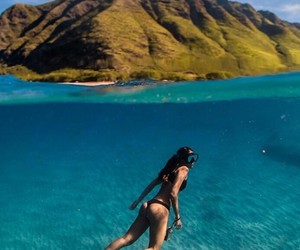 dive, mountain, and sea image